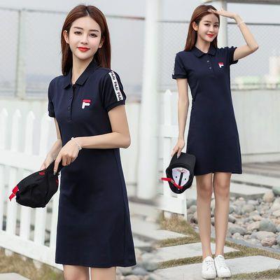 纯色连衣裙女2020新款韩版修身收腰显瘦中长款运动休闲T恤裙子