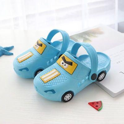 儿童凉拖鞋夏季男童卡通可爱宝宝洞洞鞋女童室内软底防滑居家拖鞋