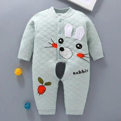 婴儿保暖连体衣春棉秋冬季初生宝宝秋新生婴儿衣服加