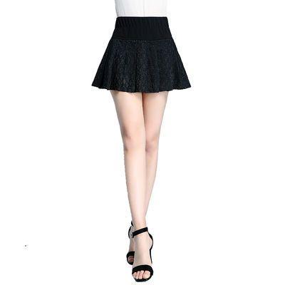 防走光超短裙半身裙性感迷你蕾丝短裙女秋季裙子高腰百褶裙A字裙