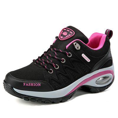 2020年春季新款休闲运动鞋女士防滑减震户外鞋厚底增高气垫旅游鞋