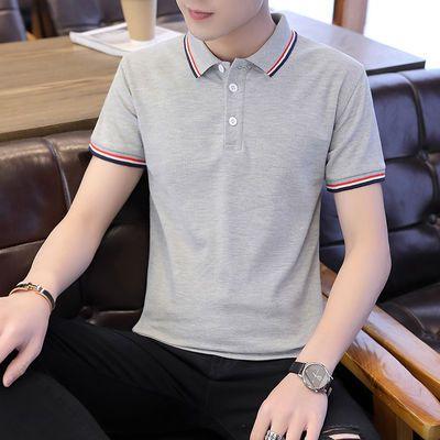 短袖男潮流男装夏季男士衬衫POLO衫T恤男半袖商务休闲中青年上衣