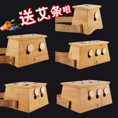 竹制艾灸盒温灸盒艾条盒艾灸条艾灸器艾盒 灸盒 温灸器