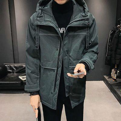 2020新款男士外套工装棉衣韩版潮男装棉袄中长款棉服