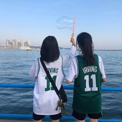 篮球服假两件NBA詹姆斯欧文凯尔特人11号男女款学生套装球衣定制