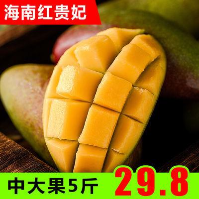 海南红贵妃芒果特级大果5斤新鲜水果孕妇当季整箱热带小金龙甜心