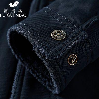 2020新款棉衣男装加厚加绒棉服中年复古休闲工装大码羊羔绒外套