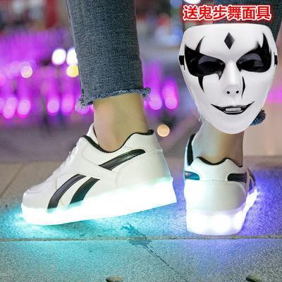 春秋儿童led新款闪光鞋usb充电发光鞋男童女童亮灯鞋带灯夜光童鞋
