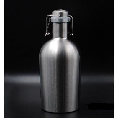 曼筠不锈钢酒壶家用2斤3斤4斤装随身啤酒桶便携水壶保温白酒瓶户