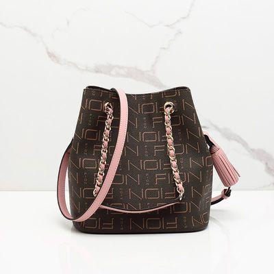 FION/菲安妮水桶包女新款chic包 链条子母包单肩包女士手提斜挎包
