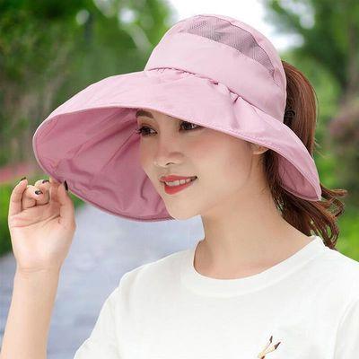 帽子女夏天防晒可折叠遮阳帽韩版户外骑车防紫外线遮脸空顶太阳帽
