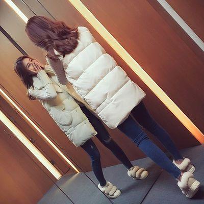 2020秋冬季新款保暖背心棉衣马甲女士马夹中长款外套棉袄无袖棉服