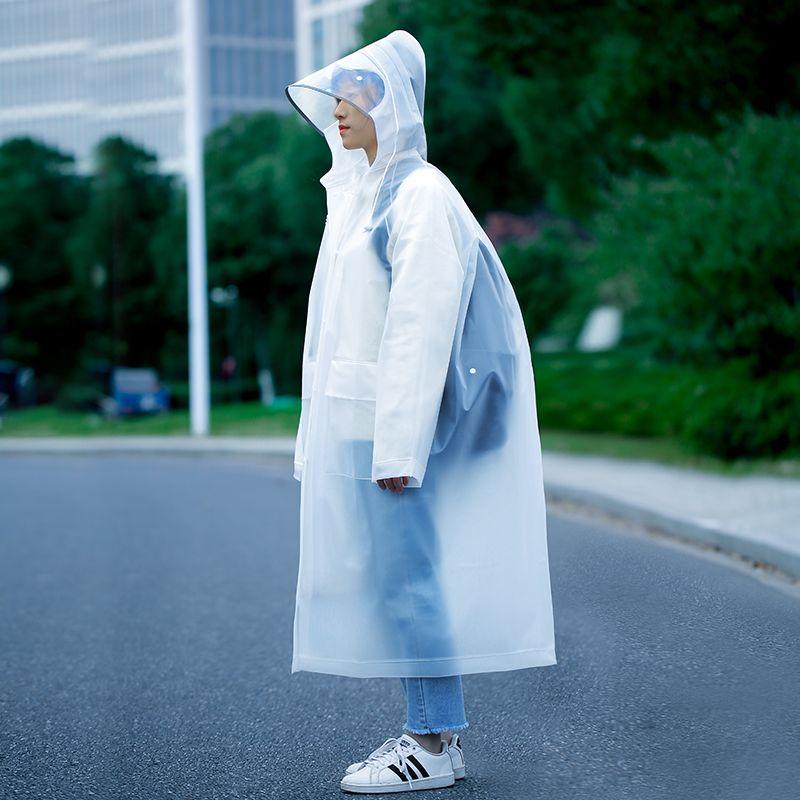 雨衣女长款全身时尚新款透明双帽檐摩托电动电瓶车成人单人雨披男