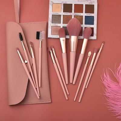 裸粉色 7支12支化妆刷 少女心彩妆美妆工具套装散粉腮红眼影刷包