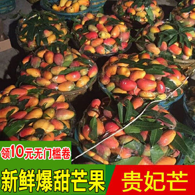 【领券立减】海南贵妃芒红金龙贵妃芒果红皮小芒果当季新鲜水果