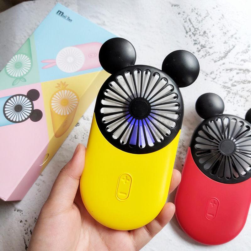 手持便携式迷你卡通米奇老鼠小风扇学生usb充电超薄大容量升级版
