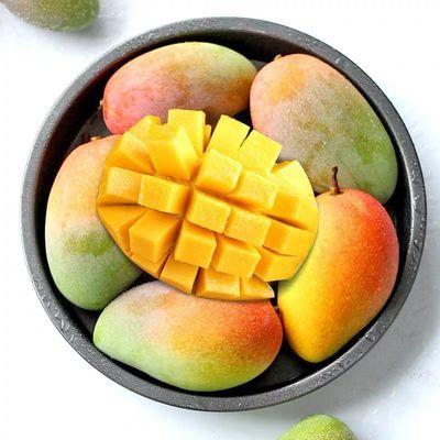 海南贵妃芒果红金龙小贵妃芒果应季热带新鲜水果一整箱批发非台农