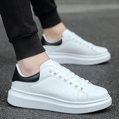 小白鞋男鞋韩版潮鞋白色情侣鞋男士休闲白鞋学生厚底运动板鞋夏季