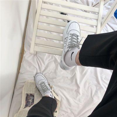 ins超火运动小白鞋男韩国街拍chic港味复古潮反光板鞋女夏季情侣