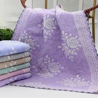枕巾一对装三层纱布成人枕巾纯棉枕头巾情侣高档加大枕巾两条