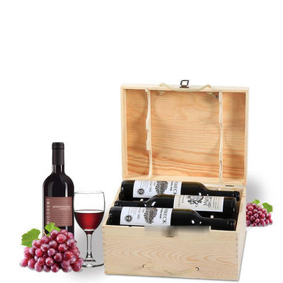 六支装葡萄酒包装盒红酒木盒洋酒木盒红酒箱子