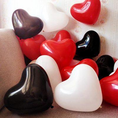 结婚加厚生日派对告白心形气球婚庆用品婚房布置浪漫气球装饰批发