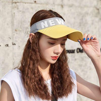 网红同款INS空顶帽女夏天街头韩版潮棒球帽运动跑步防晒遮阳帽子