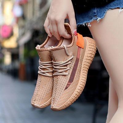 夏季大码椰子鞋女41韩版女士单鞋胖脚休闲鞋软底妈妈鞋透气网鞋43