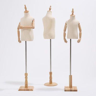 儿童模特道具半身全身小孩小童装展示架高档童装店人台假模实木模