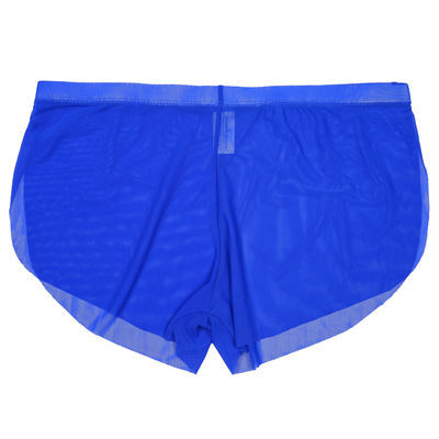男士内裤全透明网纱阿罗裤超薄无痕低腰性感家居裤男青年潮流短裤