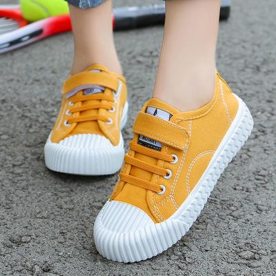 女童运动鞋皮面春季新款韩版儿童板鞋小学生小白鞋软底男童跑步鞋