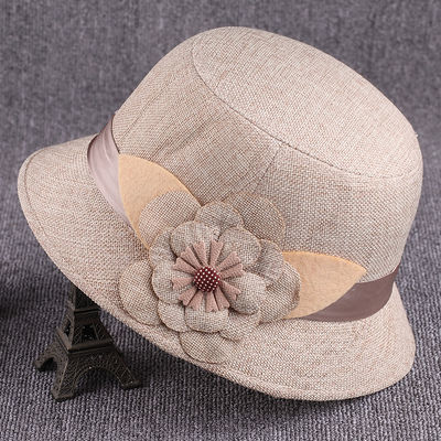 夏天老人女式单帽子女中老年妈妈防晒帽时尚夏季凉帽太阳薄款女帽