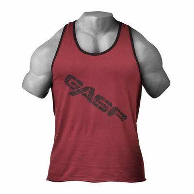 GASP盖世璞欧美风经典宽松大码男式无袖纯棉健身训练背心