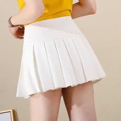 超短裙韩版女学生高腰黑色百褶裙无内衬迷你半身裙蓬蓬小裙子春秋
