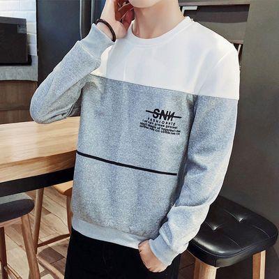 保罗街头ins春季男士长袖t恤韩版潮流宽松卫衣男装圆领时尚2020DD