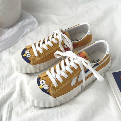 芝麻街小白帆布鞋女夏季新款网红韩版学生百搭泫雅风秋款2020潮鞋