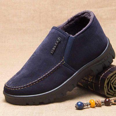 老北京布鞋男士运动休闲棉鞋加绒保暖中老年爸爸二棉鞋正品老头鞋