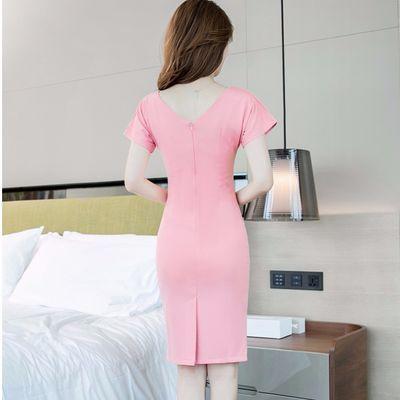2020流行女装裙子夏季韩版气质性感时尚收腰修身显瘦包臀OL连衣裙