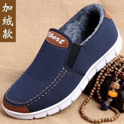 老北京布鞋男士正品二棉鞋秋冬款保暖加绒舒适老人鞋爸爸休闲鞋子