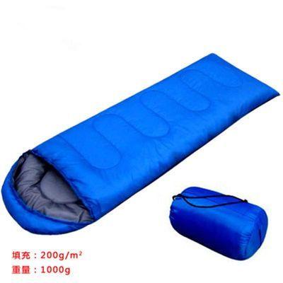 户外1kg春夏秋季薄款成人信封式带帽便携式2kg野营露营帐篷睡袋