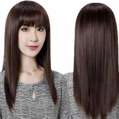 假发女中长直发自然逼真隐形无痕全头套中老年妈妈修脸减龄碎刘海