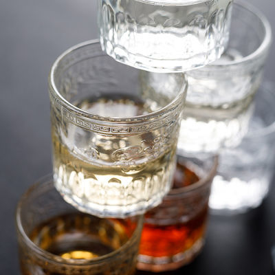 威士忌酒杯洋酒杯家用啤酒小杯子加厚高档水晶玻璃杯日式品茗茶杯