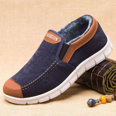 老北京二棉鞋 中年冬季加绒布鞋老人鞋男爷爷 男士秋冬休闲爸爸鞋