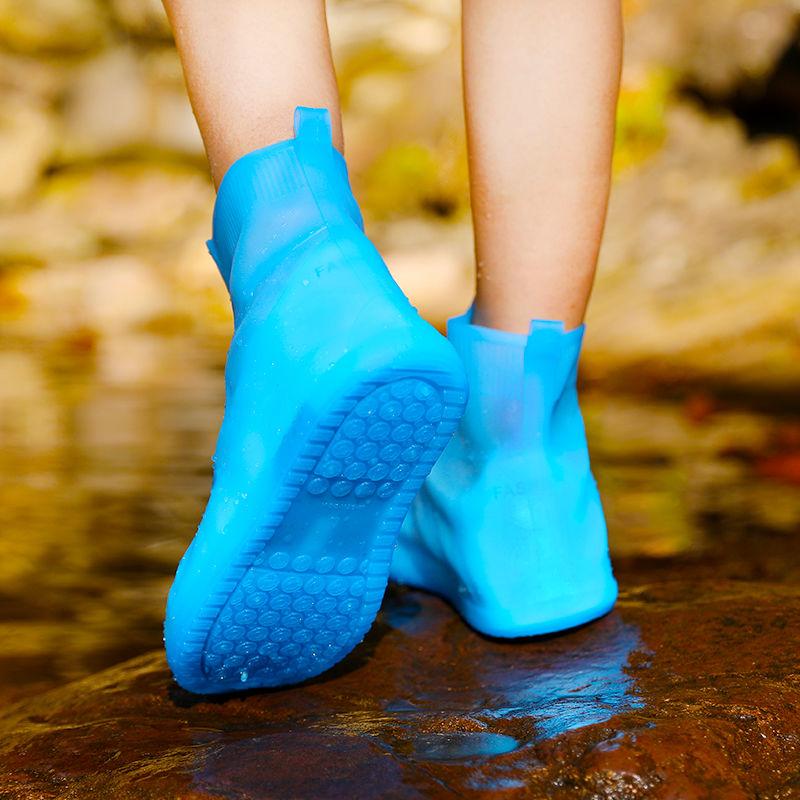 【鞋底双层加厚】雨鞋套男女防水防滑防脏污中低筒水鞋一体成型