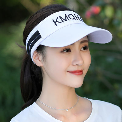 帽子女韩版夏天网球帽遮阳凉帽户外太阳帽大沿空顶帽跑步防晒帽