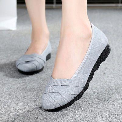 女鞋 老北京布鞋女大码41-43鞋防滑女装妈妈款帆布鞋休闲女士鞋子