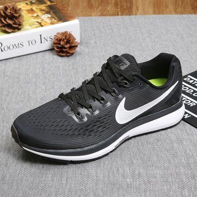 NIKE/耐克顿月女鞋新品ZOOM跑步鞋网面透气轻便飞线运动男鞋情侣