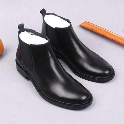 欧美马丁靴男靴英伦真皮靴子男士高帮男鞋软皮短靴复古休闲皮靴男