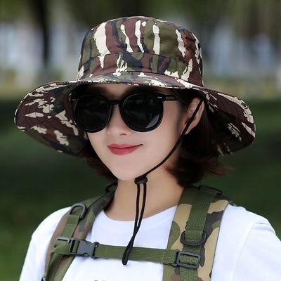 太阳帽遮阳渔夫帽防晒户外帽子夏天凉帽迷彩男女士夏季钓鱼亲子帽