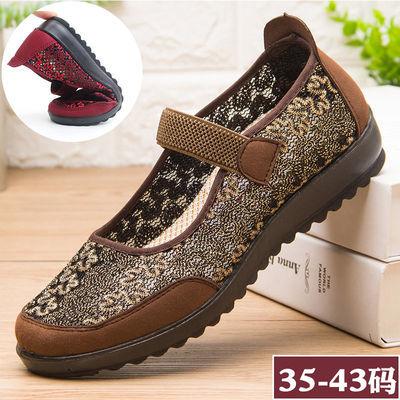 老北京布鞋女老人平跟妈妈鞋软底舒适防滑透气秋季单鞋老年奶奶鞋